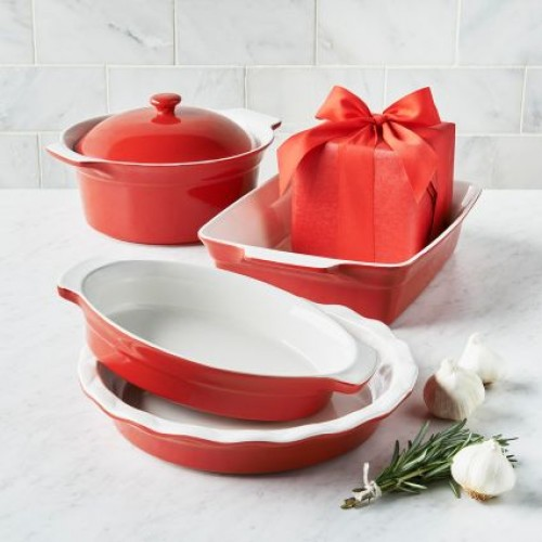 Bargain - $49.99 (61% OFF) - Stoneware 5-Piece Baker Set | Sur La Table