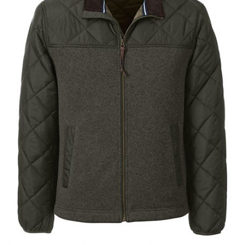 Bargain - $64.99 (was $129) - Men`s Quilted Hybrid Jacket @ Lands` End