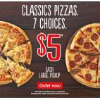 Bargain -  - Pizza Hut - Classic Large Pizzas $5 pickup, 7 to choose from!