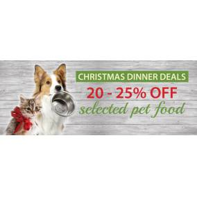 Bargain -  - 20-25% OFF on Christmas Dinner Deals For Pets @Pet