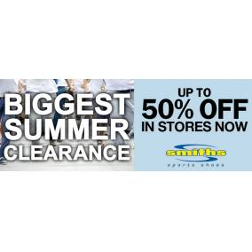 Bargain -  - Biggest Summer Clearance - Up To 50% OFF Sale @ Smiths Sports Shoes