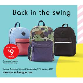 Bargain -  -  Only $9.00 Each on Casual Backpacks @ Kmart