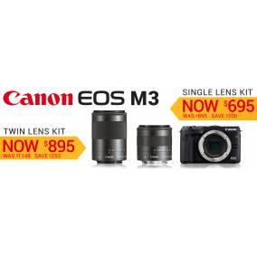 Bargain -  - Save up to $253 on Canon EOS M3 Lens Kit @ Photo Warehouse