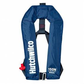 Bargain -  - NOW $99.99 (Was $139.99) HUTCHWILCO INFLATABLE LIFEJACKET 150N MANUAL ADULT NAVY @ Rebel Sport