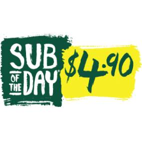 Bargain -  - Sub of the Day for only $4.90 @ Subway