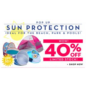 Bargain -  - 40% OFF on  Pop-up Sun Protection UPF50 @ Baby Factory