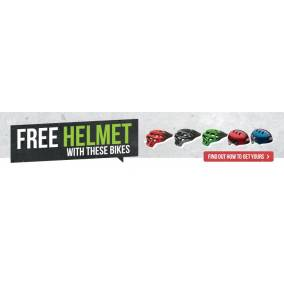 Bargain -  - Free Helmet When You Purchase with These Bikes @ Evolution Cycles