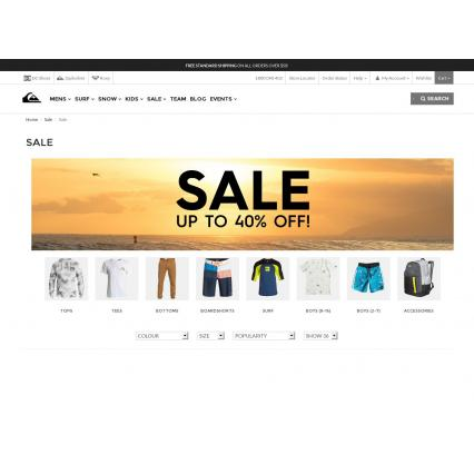 Bargain -  - Up to 40% OFF Sale Continues on Fashion Accessories @ Quiksilver