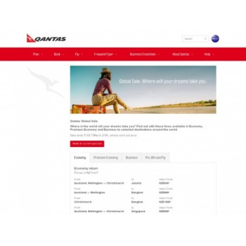 Bargain -  - Qantas Global Sale ON NOW - Ends March 7 2016