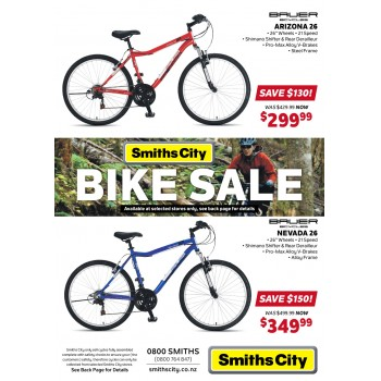 Bargain -  - Save up to $150 on Bike Sale @ Smiths City