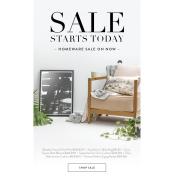 Bargain -  - Sale Starts Today - From $9.00 on Homeware Sale @ Superette