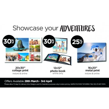 Bargain -  - Showcase your Adventure up to 30% OFF @ Camera House