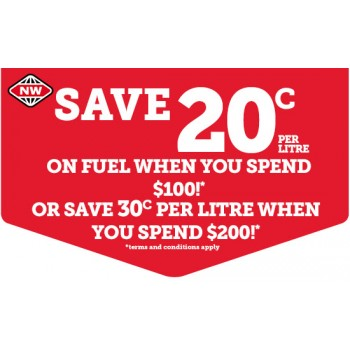 Bargain -  - Save 20c on Fuel When You Spend $100 or 30c Per Litre When You Spend $200 @ New World