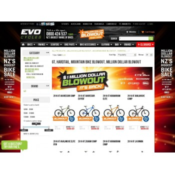 Bargain -  - 30% OFF Sale on GT, HARDTAIL, MOUNTAIN BIKE BLOWOUT, MILLION DOLLAR BLOWOUT @ Evolution Cycles