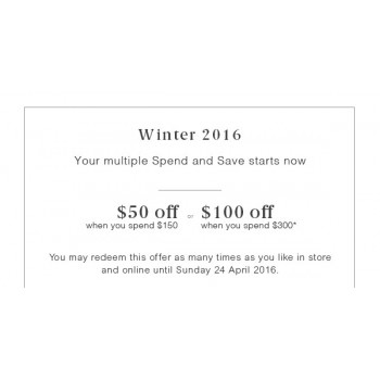 Bargain -  - Up to $100 OFF when You Spend $300 @ Trenery