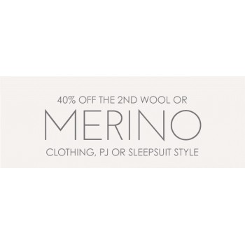 Bargain -  - 40% OFF The 2nd Wool or Merino Clothing PJ or Sleepsuit Style @ The Sleep Store