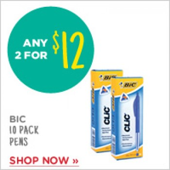 Bargain -  - Any 2 for $12 on Bic Pen Clic @ Warehouse Stationery