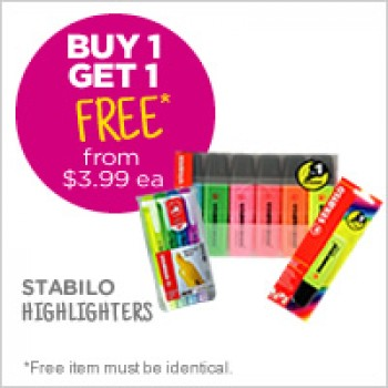Bargain -  - Buy One Get One Free from $3.99 on Highlighters @ Warehouse Stationery