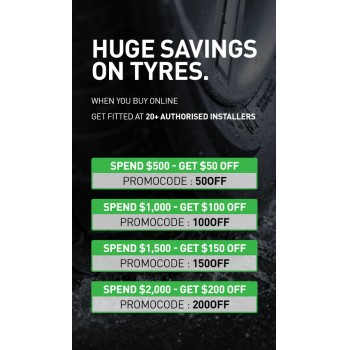 Bargain -  - Save up to $200 when you Spend $2000 on Wheels & Tyres @ Hyper Drive