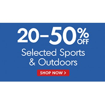 Bargain -  - 20-50% OFF Sale on Sports & Outdoors @ THe Warehouse