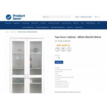 Bargain -  - Save 40% OFF on Two Door Cabinet @ Product Saver