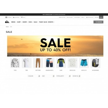 Bargain -  - Up to 40% OFF Sale on Men`s Wear @ Quik Silver