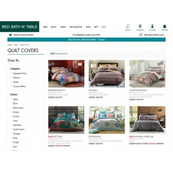 Bargain -  - Up to 40% OFF on Quilt Covers @ Bed Bath n` Table