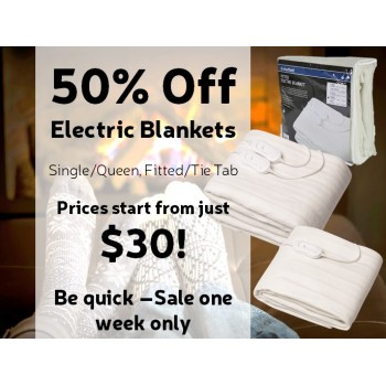 Bargain -  - 50% OFF Sale on Electric Blankets @ Product Saver