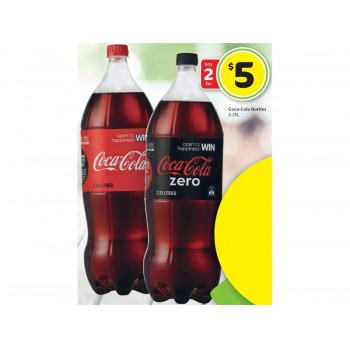 Bargain -  - Any 2 for $5 on Coca-Cola Bottles 2.25L @ Countdown