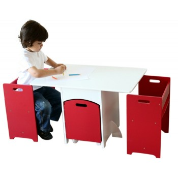 Save 25 Off Sale On Aston Red Kids Table Chairs Set W Toy Storage Hip Kids Bargain Bro New Zealand