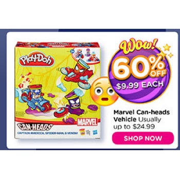 Bargain -  - 60% OFF Sale on Play-Doh Marvel Canheads Vehicle @ Toy World