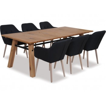 Now 3 155 Was 3 943 On Stockholm Extension Dining Table Emilia Chairs X 6 Danske Mobler Bargain Bro New Zealand