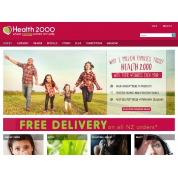 Bargain -  - Free Delivery on All NZ orders @ Health 2000