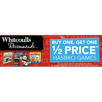 Bargain -  - Buy One, Get One Half Price on Hasbro Games @ Whitcoulls