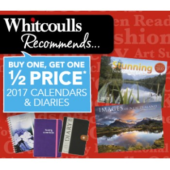 Bargain -  - Buy One, Get One Half Price on Calendars, Diaries, Planners & Organisers @ Whitcoulls