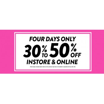 Bargain -  - 30-50% OFF Sale Instrore and Online @ Stevens - 4 Days only!