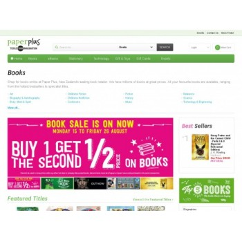 Bargain -  - Buy 1 Get the 2nd Half Price on Books @ Paper Plus