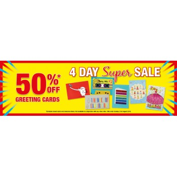 Bargain -  - 4 Day Sale - 50% OFF on Greeting Cards @ Whitcoulls