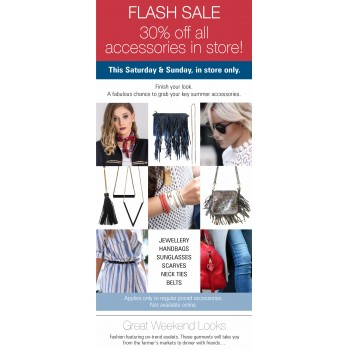 Bargain - 30% OFF - FLASH SALE All accessories. Don't miss out @ Repertoire