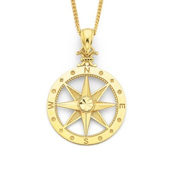 Bargain - $129 (was $199) - 9ct Compass Pendant   Pascoes The Jewellers