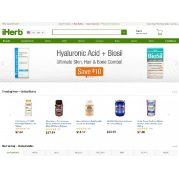 Bargain - $5+10% OFF coupon - Save $5 Off First Order+Earn 10% Credit Back at iHerb