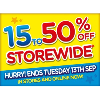 Bargain - 15-50% OFF - STOREWIDE @ Toyworld - Ends Tuesday