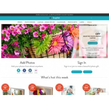 Bargain - Up to 59% OFF - Selected Photo Books + Canvas @ Snapfish