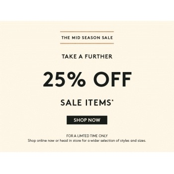 Bargain - Extra 25% OFF - Mid Season Sale Items @ Country Road