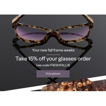 Bargain - 15% OFF - Glasses @ Clearly
