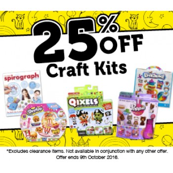 Bargain - 25% OFF - Craft Kits @ Whitcoulls