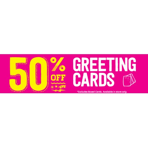 Bargain - 50% Off  - Greeting Cards and MORE @ Paper Plus