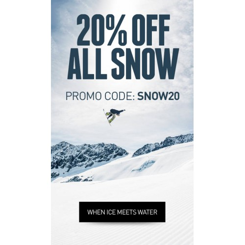Bargain - 20% OFF - All Snow @ Hyper Ride