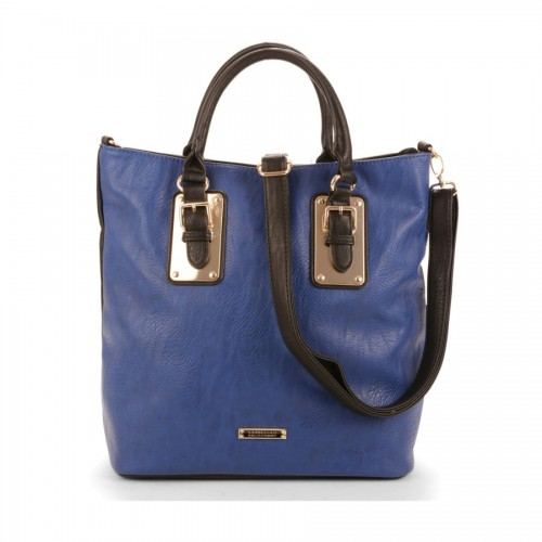 Bargain - $79.99 (was $159.99) - Calin Two-Tone Tote With Gold-Tone Tabs And Belt Buckles @ Ever Me