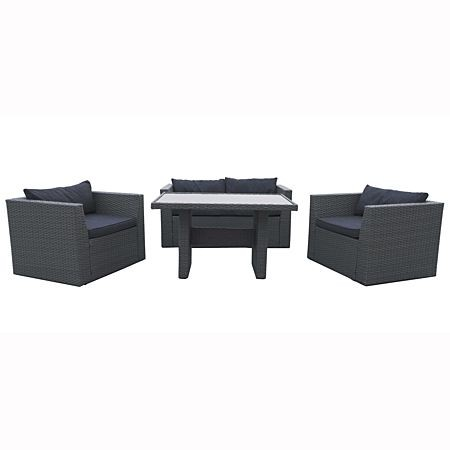 Bargain - Now $ 799 (save $800) - Solano Adelphi Wicker Low Dining Setting @ The Warehouse